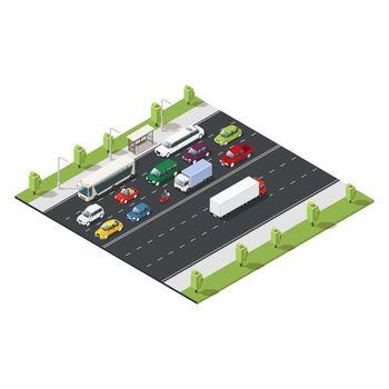 Isometric Urban Traffic Template