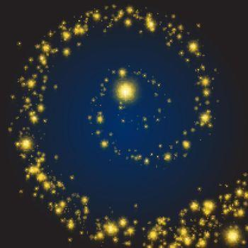 Magic stars swirl