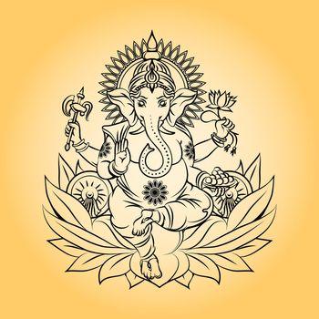 Lord ganesha indian god with elephant head