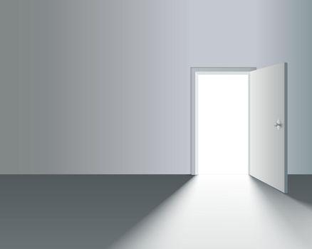 Open Door in Wall