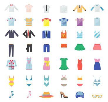 Large Set of Clothing Icons