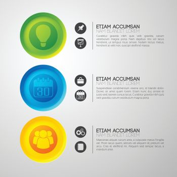 Colorful Business Pictogram Background