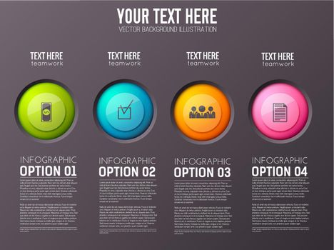 Infographic Option Buttons Background