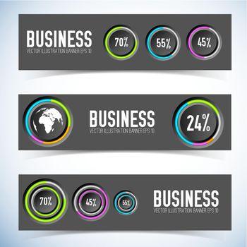 Infographic Horizontal Banners