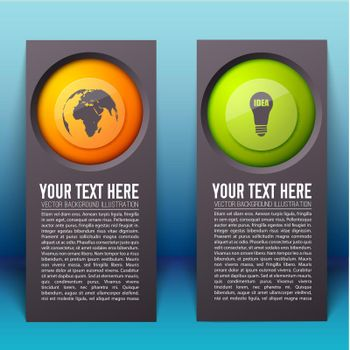 Abstract Infographic Vertical Banners