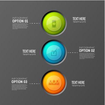 Teamwork Buttons Flowchart Background