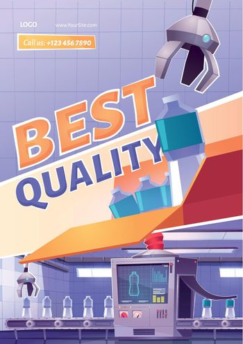 Best product quality cartoon ad poster, conveyor