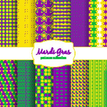 Mardi Gras carnival patterns collection