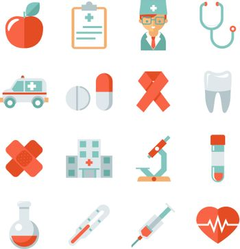 Medicine and health care icons