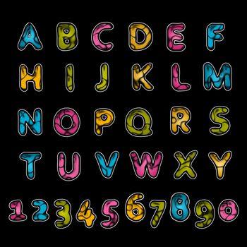 Leather alphabet