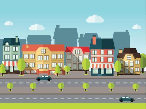 Landscape City Background