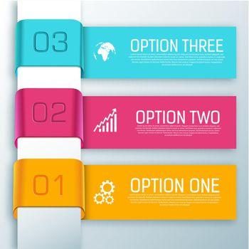 Infographic Ribbon Horizontal Banners