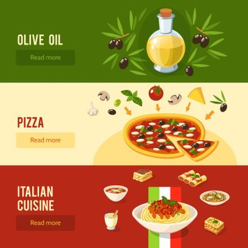 Italian Food Banner Set