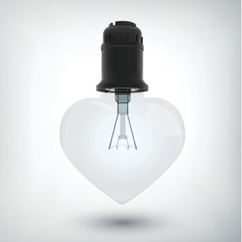 Light Bulb With Plastic Base Concept