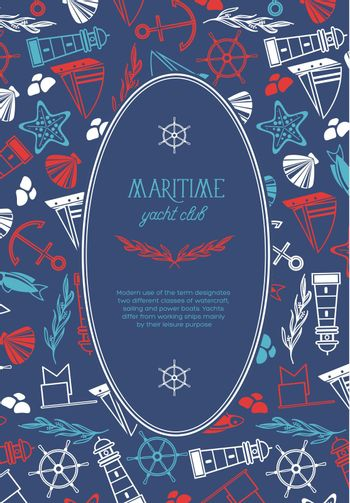 Maritime Oval Yacht Club Poster