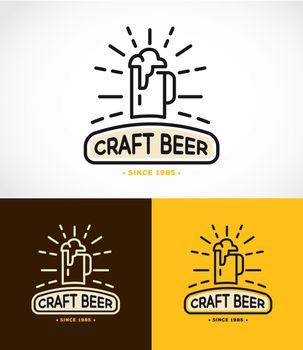 Craft Beer Line Graphics Monogram