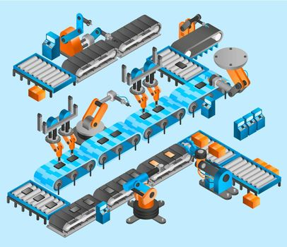 Industrial robot isometric concept