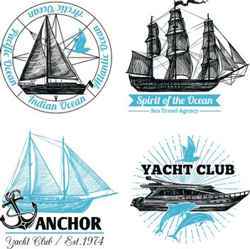 Marine Labels Set