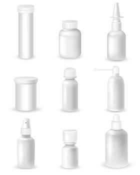 Medicine Bottles Set