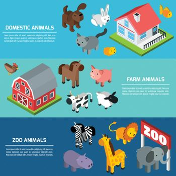 Isometric Animals Banners