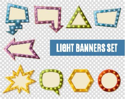 Light Banners Transparent Set