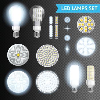Led Lamps Transparent Set