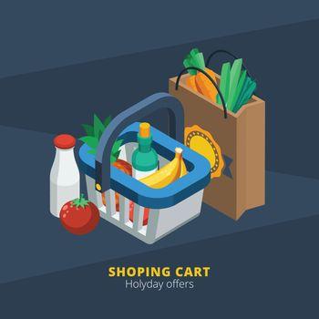 Isometric Supermarket Icon