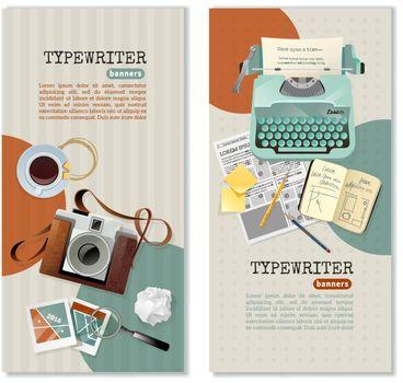 Journalist Typewriter Vertical Banners