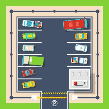Parking Top View Poster