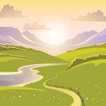 Mountain Landscape Background