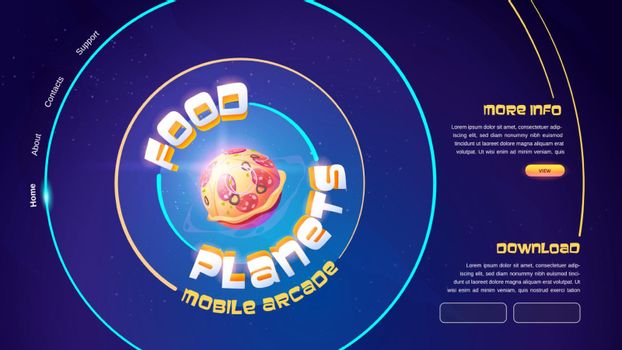 Food planets mobile arcade game website