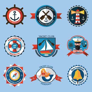 Nautical Labels Set