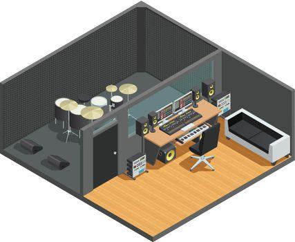 Drums Recording Studio Interior