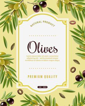 Olive Frame Background