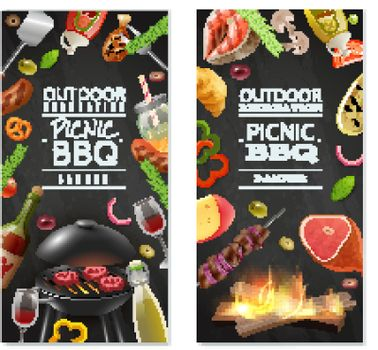 Picnic Barbecue Vertical Banners