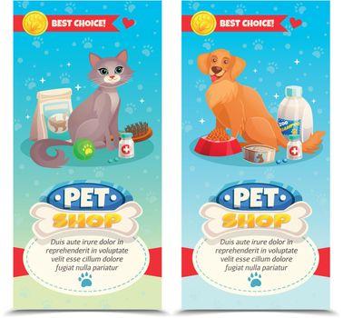 Pet Shop Vertical Banners