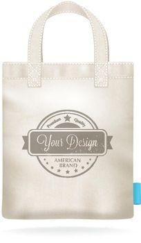 White Canvas Mockup Realistic Shopping Bag
