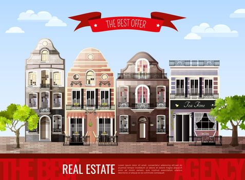 Old European Houses Poster