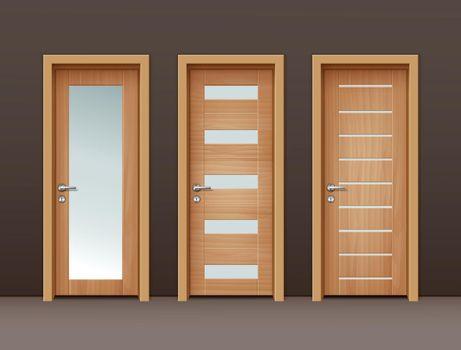 Vector wooden doors