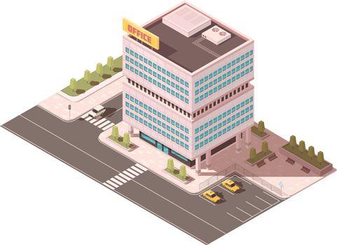 Office Building Isometric Mockup