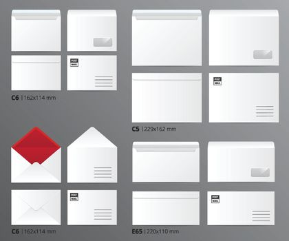 Mail Envelopes Postal Set