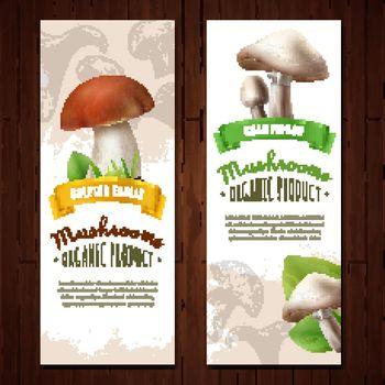 Organic Mushrooms Vertical Banners