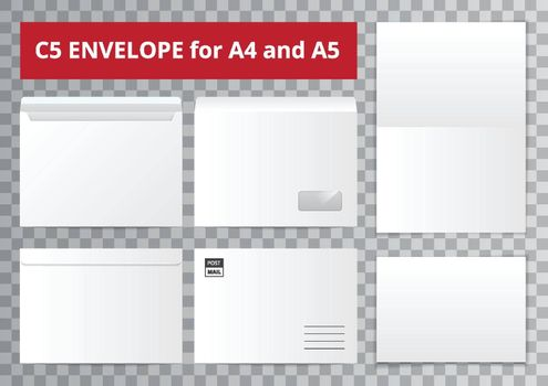 Office Envelopes Transparent Collection