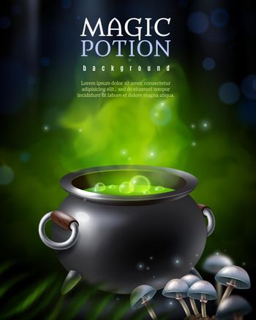 Mysterious Poison Pot Background