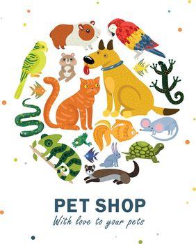 Pet Shop Round Composition