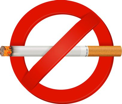 No Smoking  Realistic Cigarette Sign