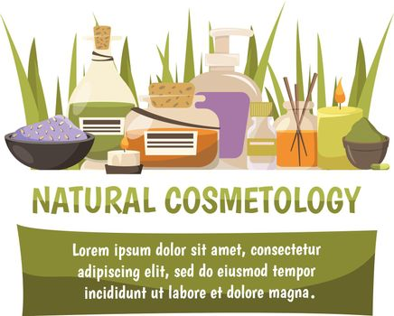 Natural Cosmetology Design Composition