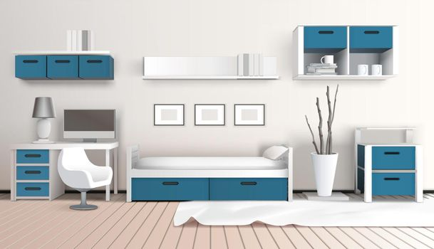Modern Interior 3D Composition