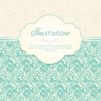 Ornamental pattern invitation card