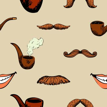 Pattern with mustache and pipe